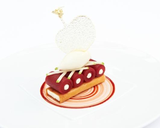 Dessert de Baptiste Mandon du Chalet de la Forêt   Joelle Rochette